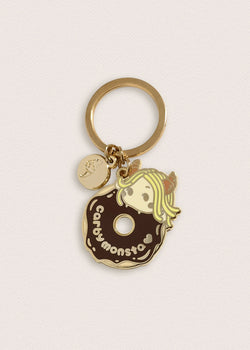 Carby Monsta Donut Keychain