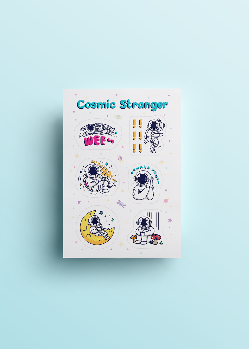 Cosmic Stranger Feelings Sticker Sheet