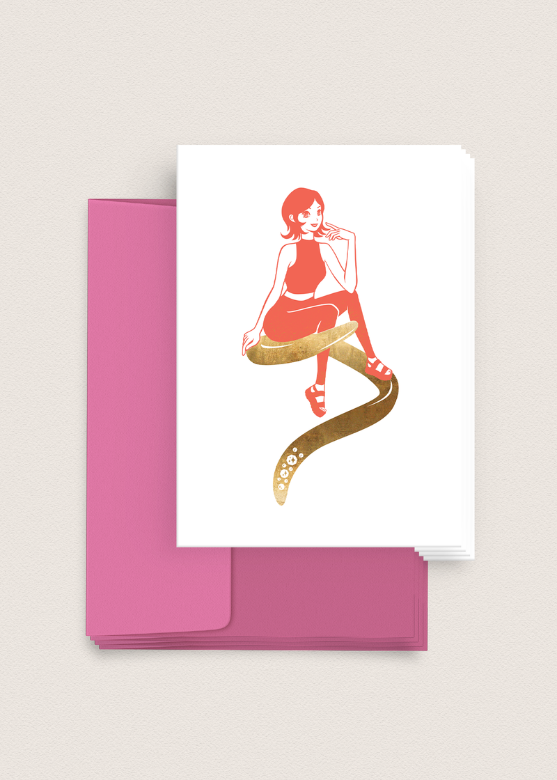 Greeting Card - Girl Boss