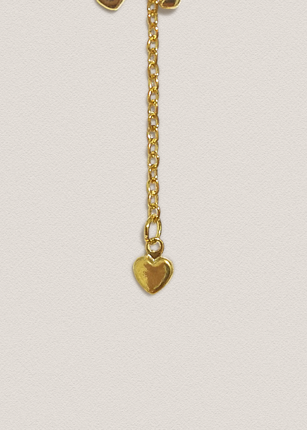 Gold Heart Pin Charm