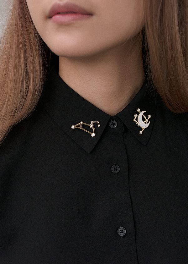 Moon + Stars Constellation Pin
