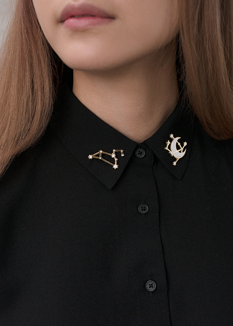 Leo Constellation Pin