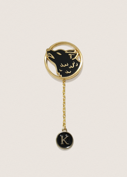 Black Alphabet Pin Charm