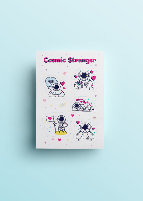 Cosmic Stranger Love Sticker Sheet