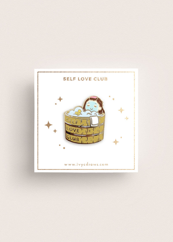 Self Love Club Charity Pin