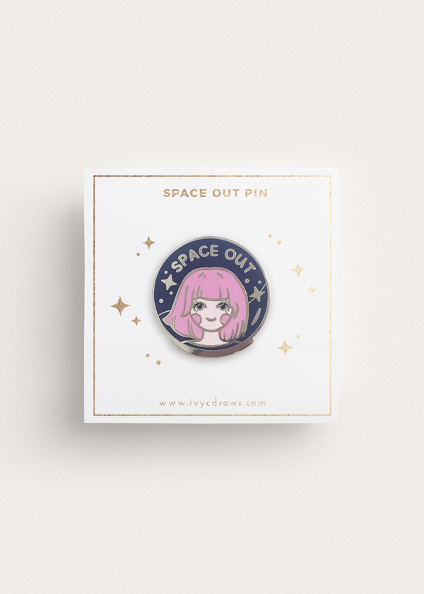Space Out Enamel Pin