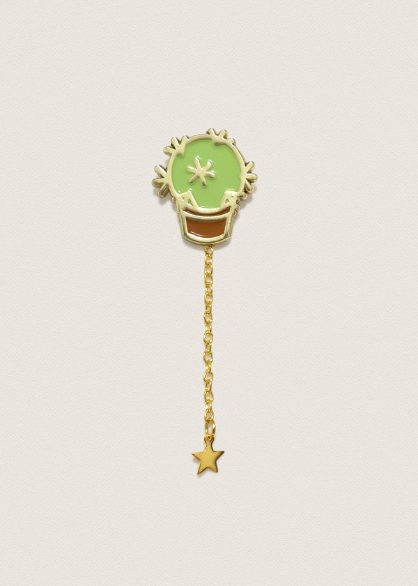 Gold Star Pin Charm