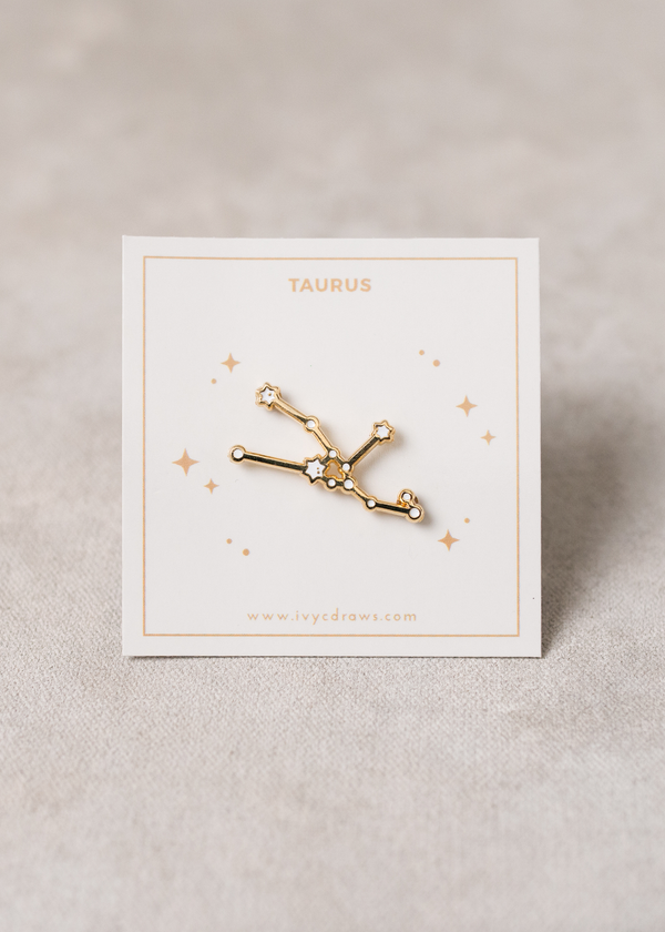 Taurus Constellation Pin