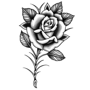 Rose American Traditional Temporary Tattoo By Toddler Tattoos