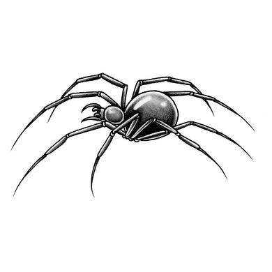 "Spider Temporary Tattoo - 2"" x 4"""