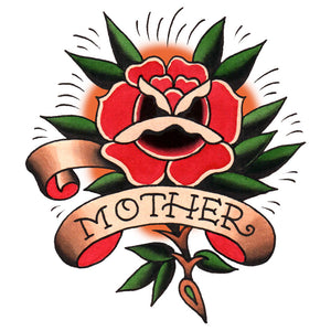 "Mother Rose Temporary Tattoo - 3.5"" x 3.5"""
