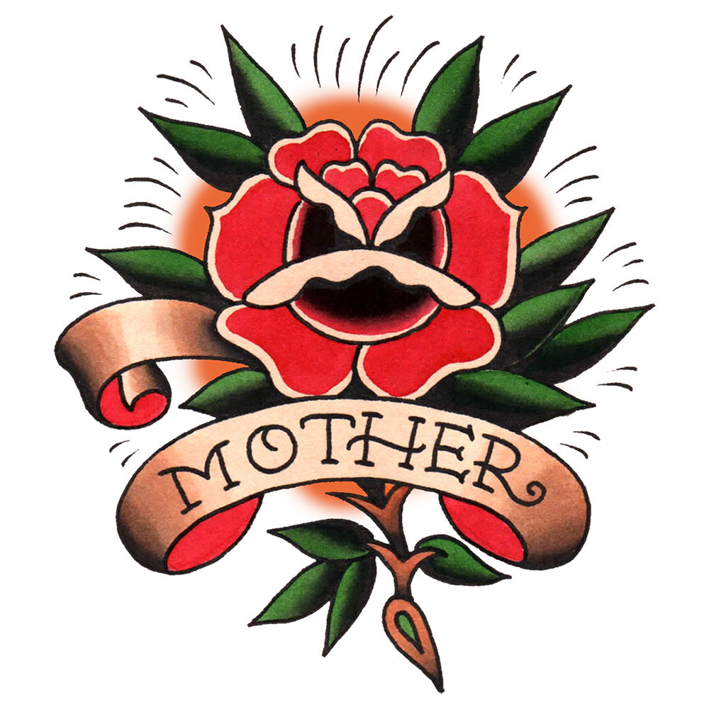 Mother Rose Temporary Tattoo - 3.5