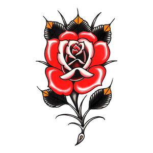 "Rose Temporary Tattoo - 2.5"" x 4.5"""