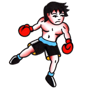 "Lil' Boxer Temporary Tattoo - 2.5"" x 3"""