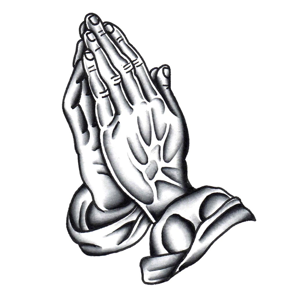 Praying Hands Temporary Tattoo - 2.5