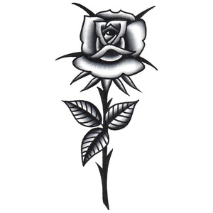 "Rose Temporary Tattoo - 1.5"" x 3"""