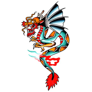 "Dragon Temporary Tattoo - 3"" x 5"""