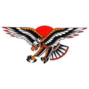 "Chest Eagle Temporary Tattoo - 3"" x 6.5"""