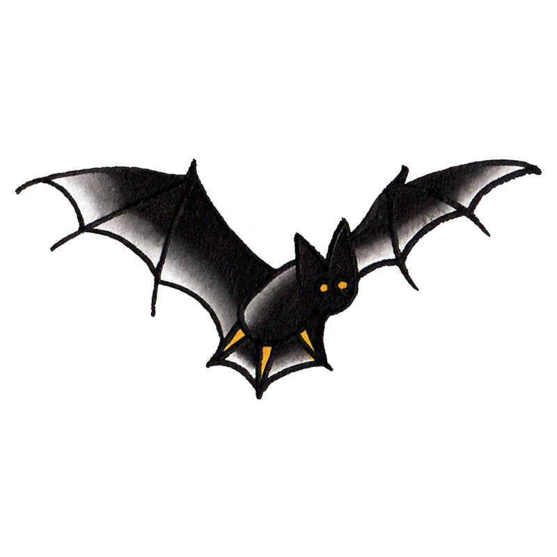 "Bat Temporary Tattoo  - 1.5"" x 3"""