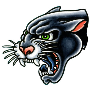 "Panther Head Temporary Tattoo - 2.5"" x 2.5"""