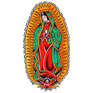 "Guadalupe Temporary Tattoo 3"" x 5.5"""