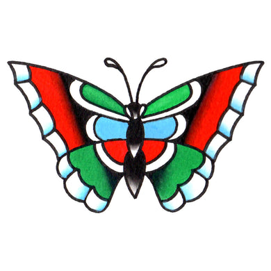 "Butterfly Temporary Tattoo - 2"" x 3"""