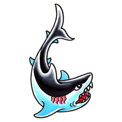 Great White Shark Temporary Tattoo - 2.5