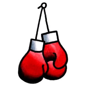 "Boxing Gloves Temporary Tattoo - 1.5"" x 2.5"""