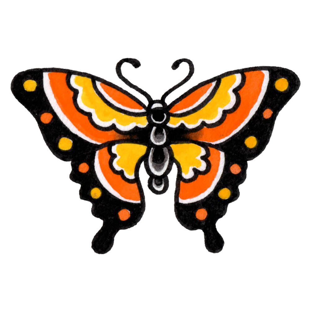 "Monarch Butterfly Temporary Tattoo - 2"" x 3"""