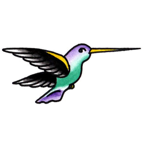 "Hummingbird Temporary Tattoo - 1.5"" x 3"""