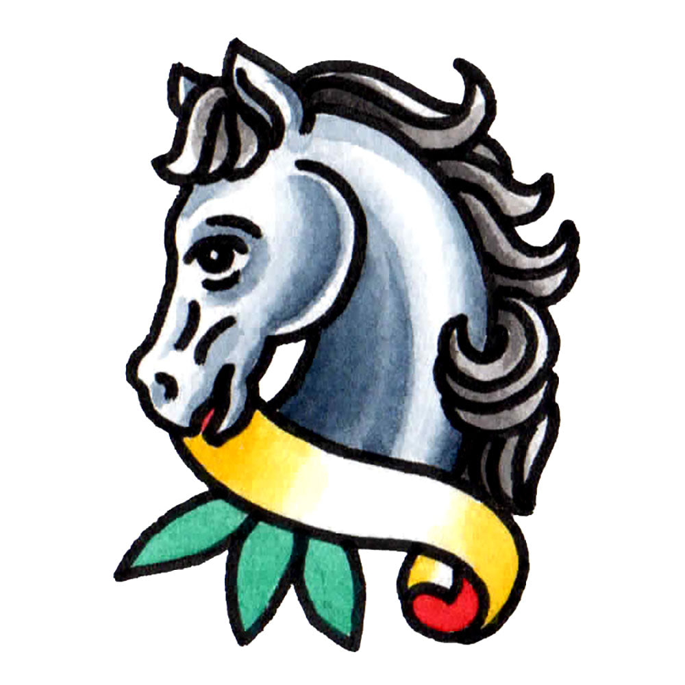 "Pony Temporary Tattoo - 2"" x 2.5"""
