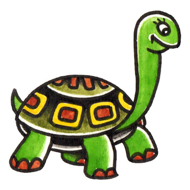 "The Turtle Temporary Tattoo - 2"" x 2"""