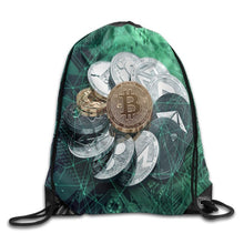 Cryptocurrency Drawstring Bag