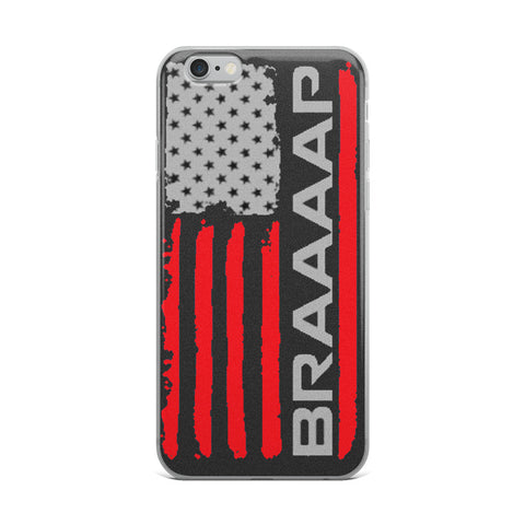 iPhone Case (Red BRAAAP Flag)
