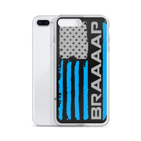 iPhone case (Blue BRAAAP Flag)