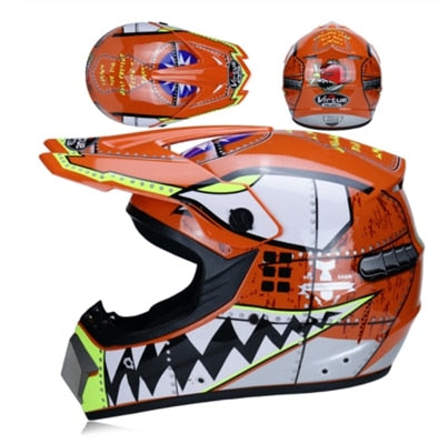 KIDS Moto Helmet W/ Goggles and Gloves