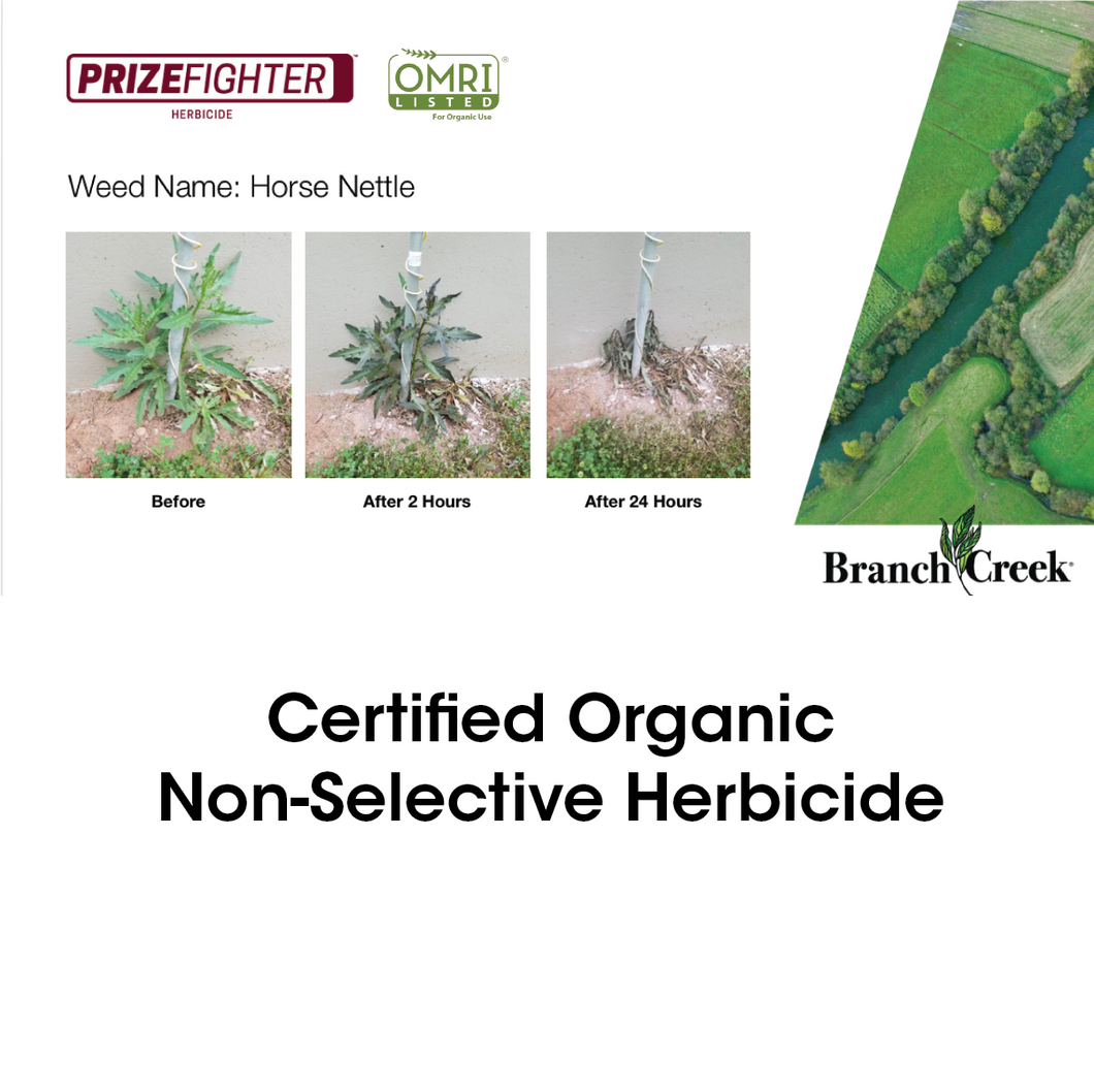 Prizefighter Certified Organic Herbicide Concentrate- 1 Gallon