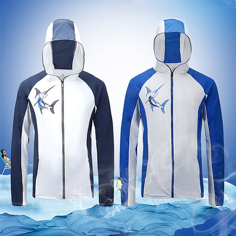 Outdoor Unisex Fishing Hooded Shirt