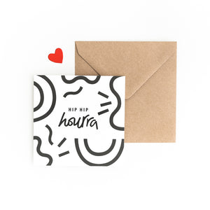 CARTE HIP HIP HOURRA - COLLAB MY DEAR PAPER