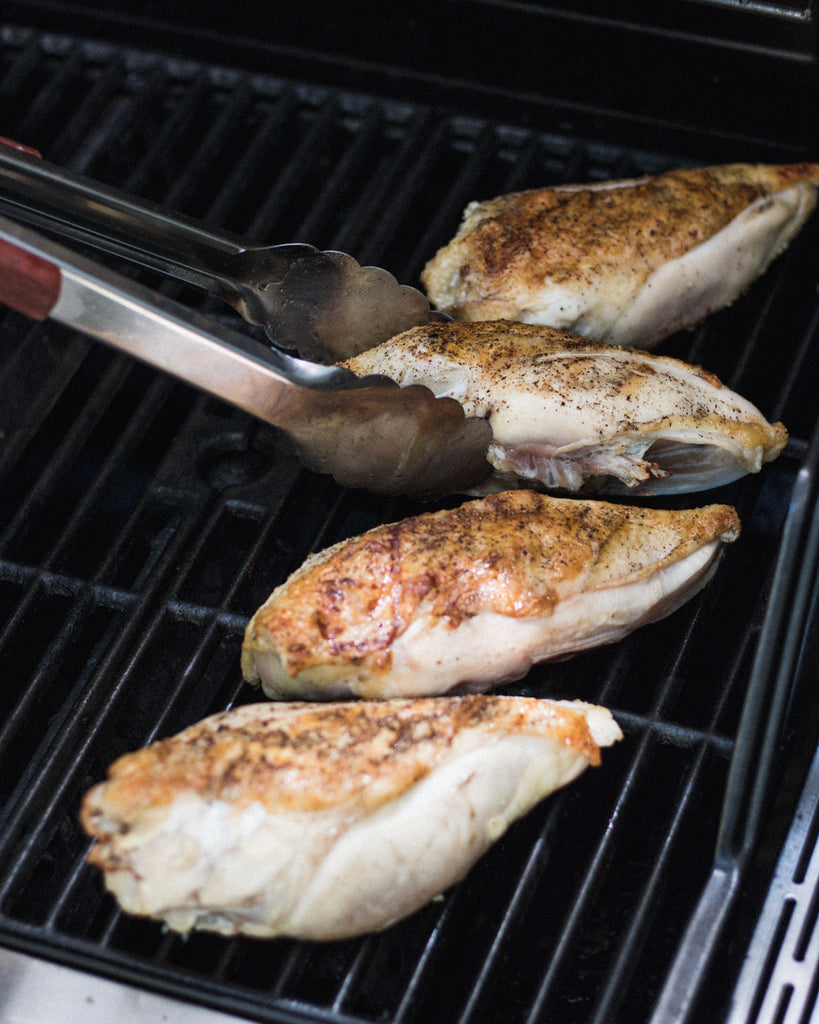 two zone grilling chicken