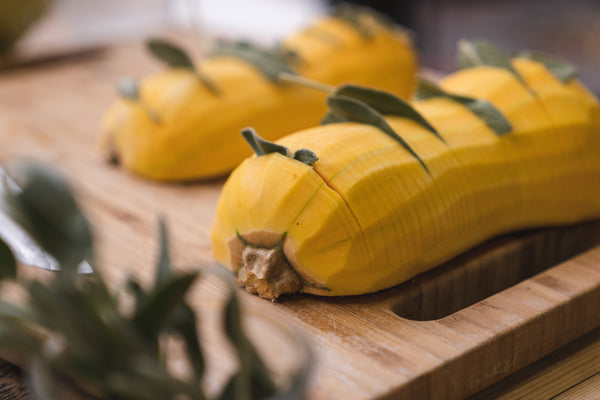 smoked squash, thanksgiving recipes, smoked sides, charcoal companion, grilled squash