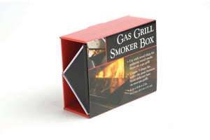 Non-Stick Gas Grill V-Smoker Box with Chips