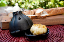 Cast Iron Garlic Roaster & Silicone Squeezer