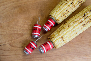 Corn Holders- Beer Can, 4 Pairs