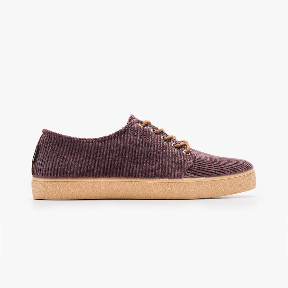 HIGBY GRAPE CARAMEL CORDUROY - Zapatilla Pompeii