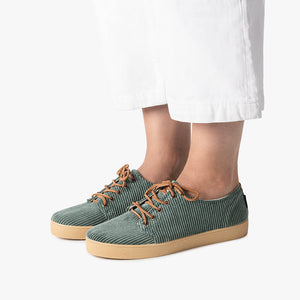 HIGBY TEAL CORDUROY - Zapatilla Pompeii mujer