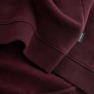 Sweatshirt Zipper Maroon