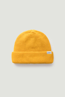 THE MUSTARD WOOL BEANIE HAT