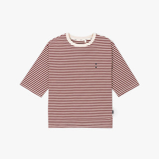 THE STRIPES PLUM ELBOW SLEEVE TEE