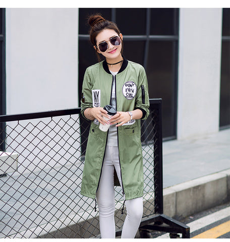 Women's Fashion Long Trench Coat